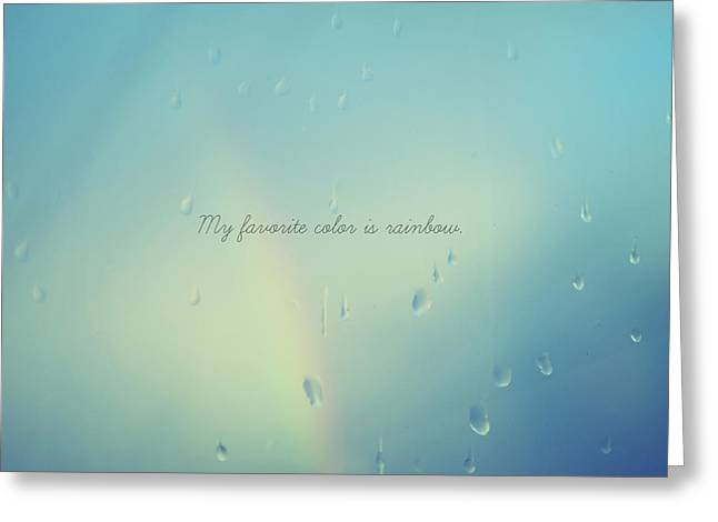 Favorite Color Blue Greeting Cards - My Favorite Color... Greeting Card by Robin Dickinson