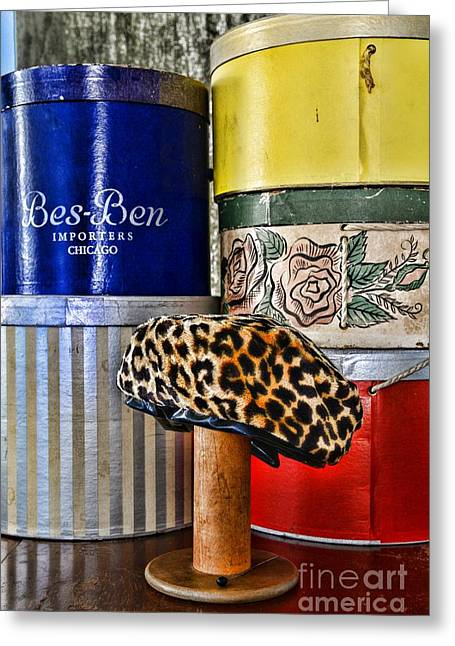 Hat Box Greeting Cards - My Favorite Hat Greeting Card by Paul Ward