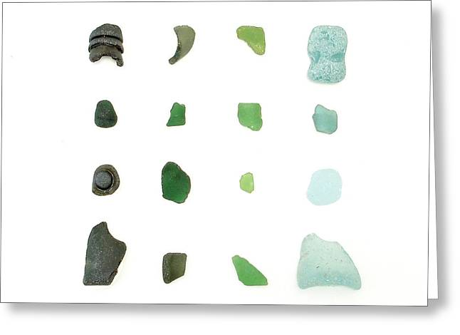 Maine Beach Greeting Cards - My Favorite Sea Glass Greeting Card by Jennifer Booher