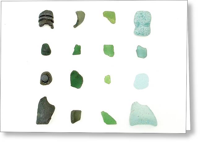 My Favorite Sea Glass Greeting Card by Jennifer Booher