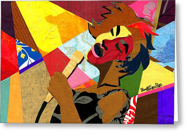 Romare Bearden Greeting Cards - My Favorite Things Greeting Card by Everett Spruill