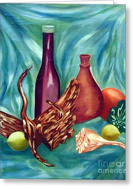 Bryant Paintings Greeting Cards - My First Oil Greeting Card by Carla Jo Bryant