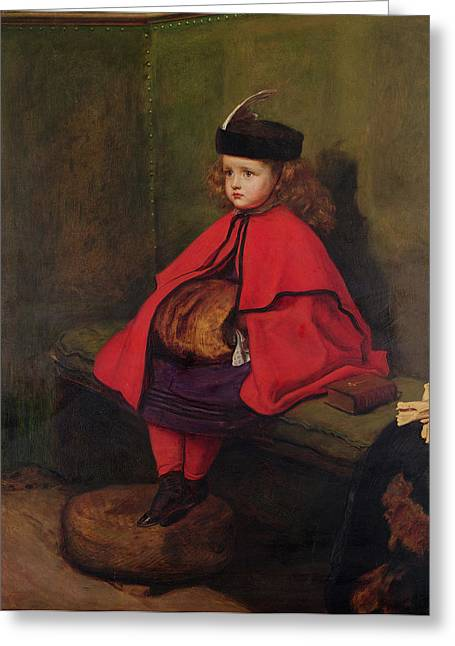 Victorian Photographs Greeting Cards - My First Sermon, 1863 Oil On Canvas See Also 6118 Greeting Card by Sir John Everett Millais
