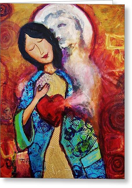 Betrothed Greeting Cards - My Friend The Holy Spirit Greeting Card by Dana Vacca