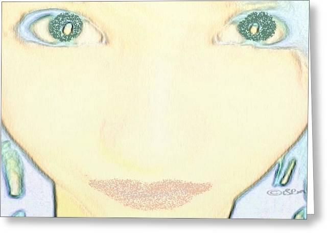 My Genie Greeting Card by Gina Lee Manley