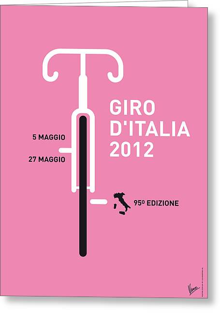 Free Digital Greeting Cards - My Giro D Italia Minimal Poster Greeting Card by Chungkong Art