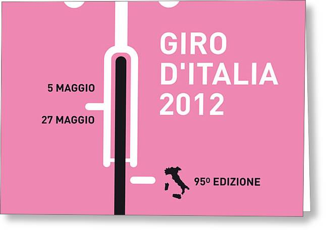 MY GIRO D' ITALIA MINIMAL POSTER Greeting Card by Chungkong Art