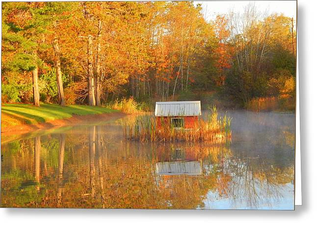 My Golden Pond Greeting Card by Karen Cook