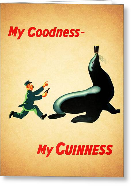 Menu Photographs Greeting Cards - My Goodness My Guinness 1 Greeting Card by Mark Rogan