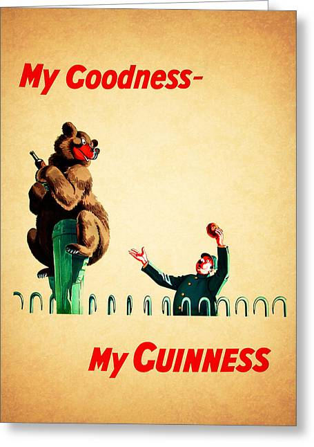 Recipes Greeting Cards - My Goodness My Guinness 2 Greeting Card by Mark Rogan