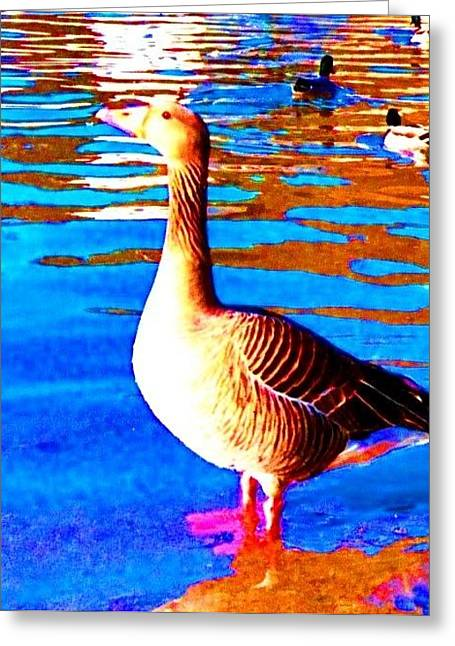 Mental Process Greeting Cards - My Goose Greeting Card by Hilde Widerberg