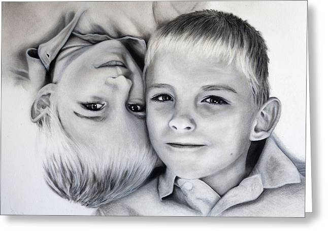 Kd Greeting Cards - My Grandsons Greeting Card by Kd Neeley