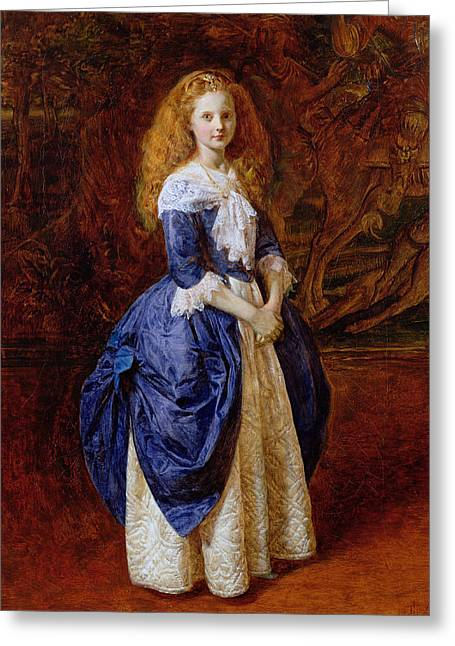 Red Haired Girl Greeting Cards - My Great Grandmother, 1865 Oil On Canvas Greeting Card by James Archer