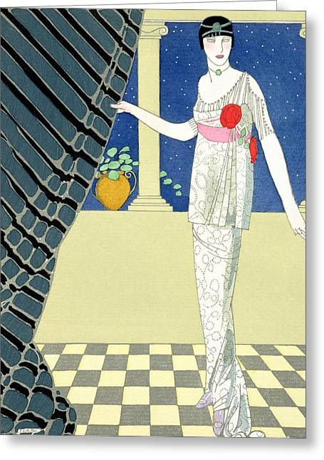 Party Invite Greeting Cards - My Guests have not Arrived Greeting Card by Georges Barbier