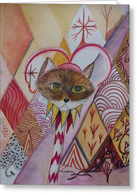 Jester Mixed Media Greeting Cards - My Guy  Greeting Card by Marian Hebert