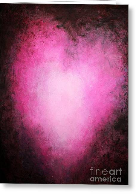 Cute Mixed Media Greeting Cards - My Heart Beats For You Greeting Card by Mike Grubb