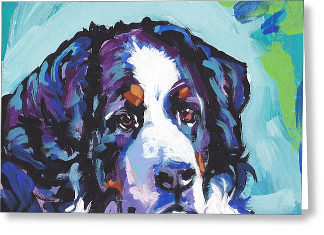 Berner Greeting Cards - My Heart Berner Greeting Card by Lea