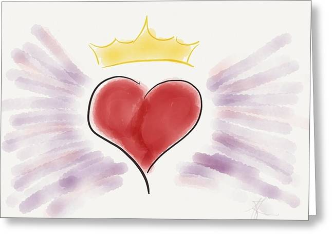 Empowerment Greeting Cards - My Heart Is a Superhero Greeting Card by Barbara Bellissimo