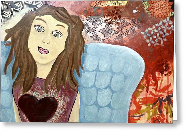 Caring Mother Mixed Media Greeting Cards - My Heart is Full Greeting Card by Shelley Smith