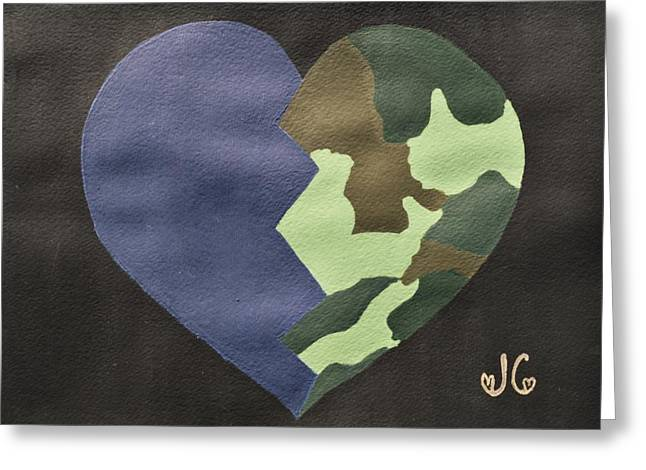 Iraq Paintings Greeting Cards - My Heart Greeting Card by Jessica Cruz