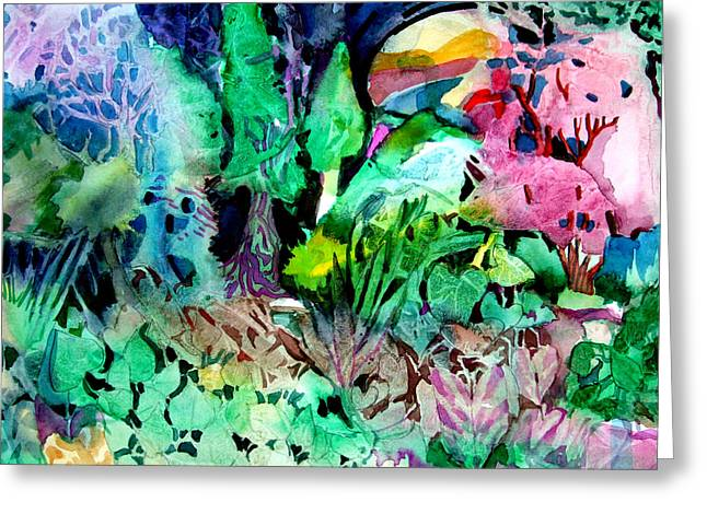 Surreal Landscape Drawings Greeting Cards - My Hearts Delight Greeting Card by Mindy Newman