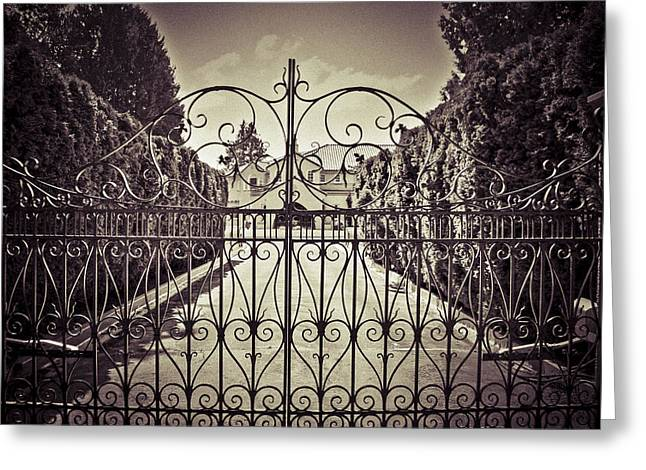 Residential Structure Digital Greeting Cards - My home is my fortress vintage Greeting Card by Eti Reid