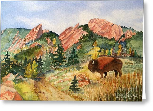University Of Boulder Colorado Greeting Cards - My Home Town Greeting Card by Donlyn Arbuthnot