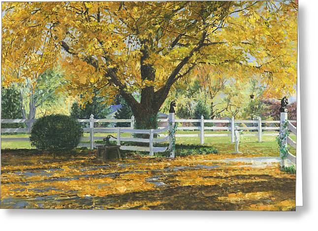 Autumn Scenes Greeting Cards - My House Greeting Card by Don  Langeneckert