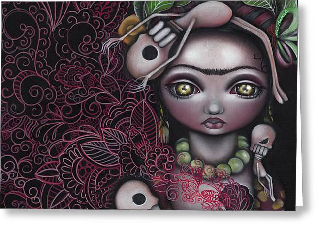 Dia De Los Muertos Art Greeting Cards - My Inner Feelings Greeting Card by  Abril Andrade Griffith