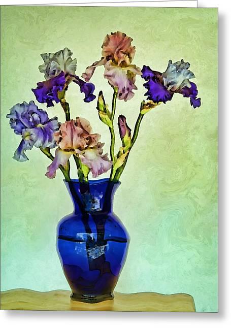 My Iris Vincent's Genius Greeting Card by Nikolyn McDonald