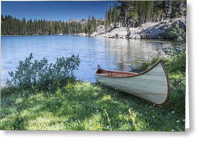 Green Canoe Greeting Cards - My Journey Greeting Card by Jon Glaser
