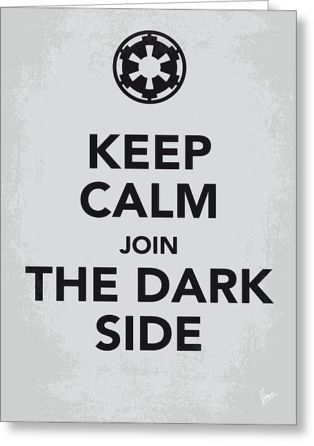 Join Greeting Cards - My Keep Calm Star Wars - Galactic Empire-poster Greeting Card by Chungkong Art