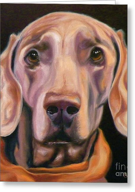 Weimaraner Greeting Cards - My Kerchief Greeting Card by Susan A Becker