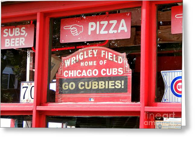Chicago Wrigley Field Greeting Cards - My Kind of Town Greeting Card by Karyn Robinson