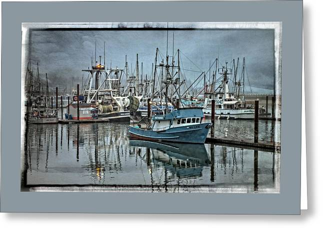 Fishing Boats Greeting Cards - My Lee - Yaquina Bay Greeting Card by Thom Zehrfeld