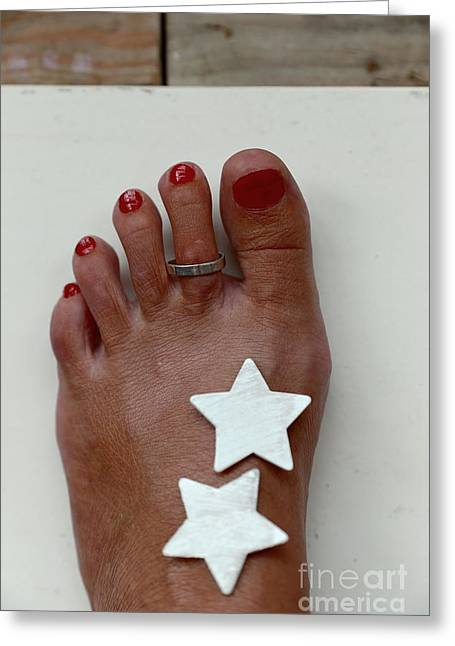 Extremity Greeting Cards - My left foot Greeting Card by Eva Ozkoidi