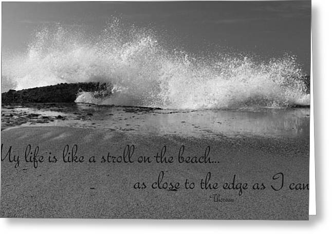 Ocean Art Photos Greeting Cards - My Life In Black And White Greeting Card by Heidi Smith