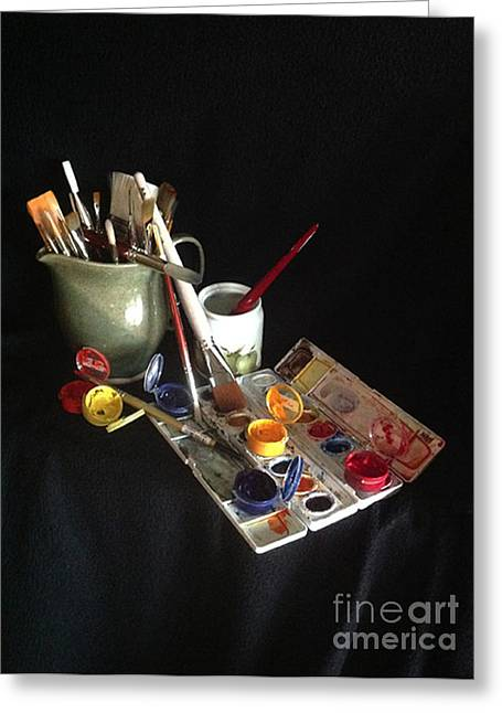 Paint Photograph Greeting Cards - My Limited Palette Greeting Card by Nan Wright