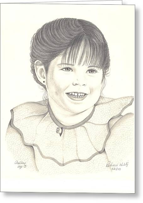 Sweetness Drawings Greeting Cards - My little Girl Greeting Card by Patricia Hiltz
