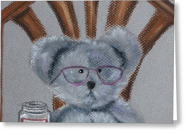 Table And Chairs Pastels Greeting Cards - My Little Honey Greeting Card by Linda Eversole