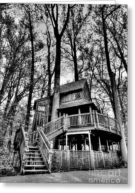 Treehouse Greeting Cards - My little outhouse Greeting Card by Paul W Faust -  Impressions of Light