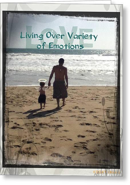 Ventura California Mixed Media Greeting Cards - My Little Sand Angel Greeting Card by Jordie Linka