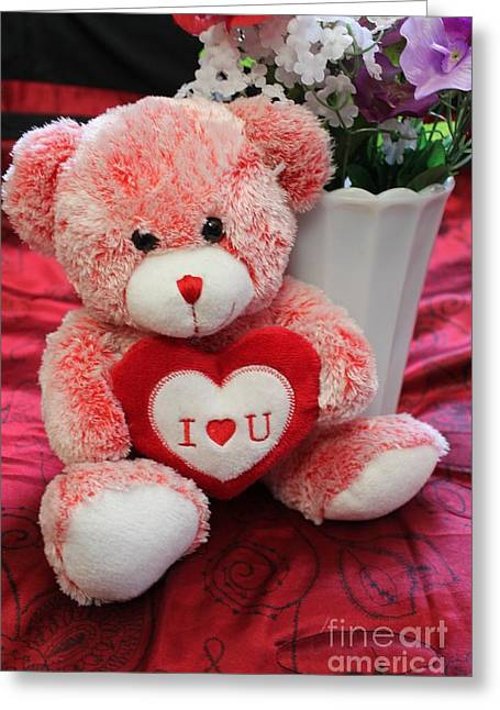 Stuffy Greeting Cards - My Love Greeting Card by Danielle Whitney