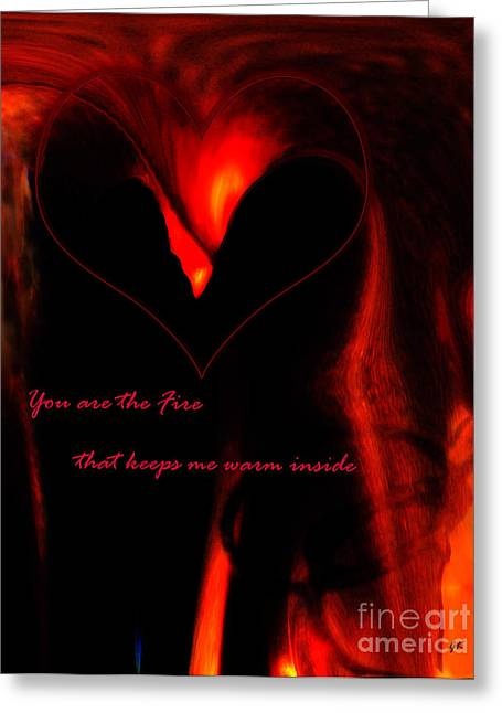 Romance Mixed Media Greeting Cards - My Love Greeting Card by Gerlinde Keating - Keating Associates Inc