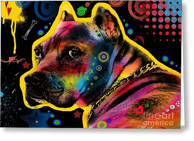 Funny Dog Digital Greeting Cards - My Lovely Guy Greeting Card by Mark Ashkenazi