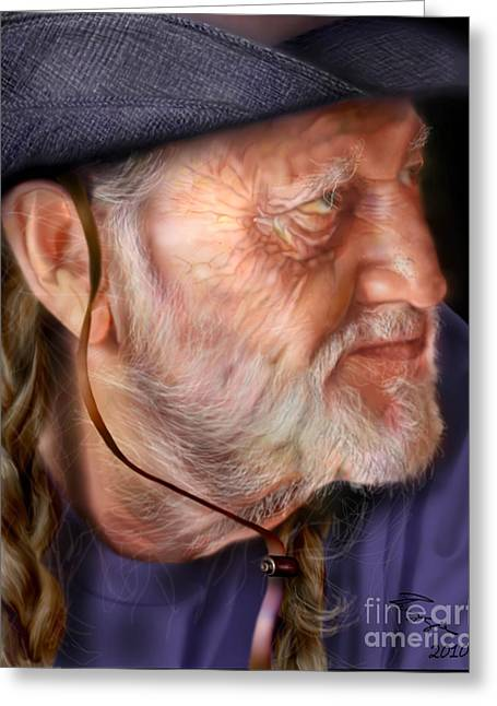 Cow Boy Greeting Cards - My Man Willie Greeting Card by Reggie Duffie