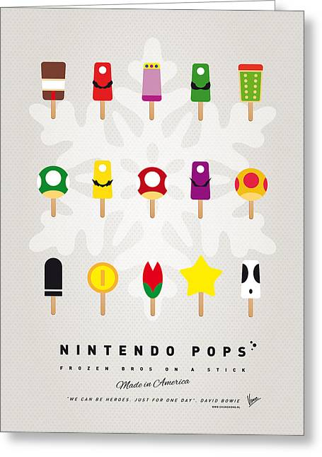Mushrooms Greeting Cards - My MARIO ICE POP - UNIVERS Greeting Card by Chungkong Art