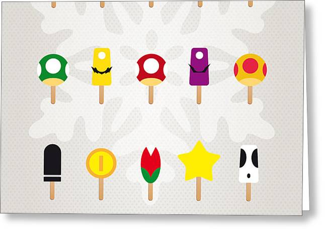 My MARIO ICE POP - UNIVERS Greeting Card by Chungkong Art