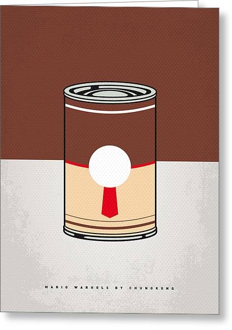 My Mario Warhols Minimal Can Poster-donkey Kong Greeting Card by Chungkong Art