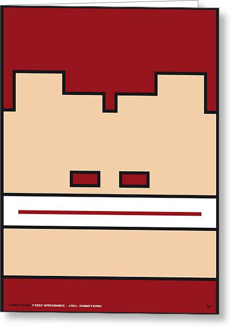 Levels Greeting Cards - My Mariobros Fig 03 Minimal Poster Greeting Card by Chungkong Art